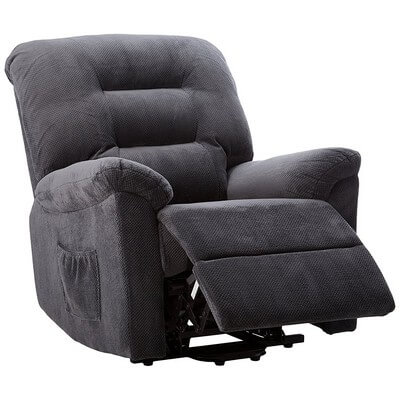 Coaster Casual Chenille Fabric Upholstered Power Lift Recliner