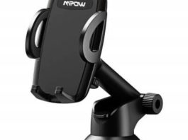 Mpow Car Phone Mount Phone Holder on Dashboard Windshield, 360 Rotation, One Hand Operation,
