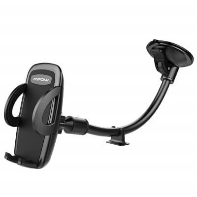 Mpow Car Phone Mount, Windshield Cell Phone Holder for Car with Long Arm Car Phone Mount