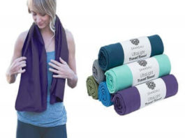Microfiber Travel & Sports Towel. Absorbent, Fast Drying & Compact. Great for Yoga, Gym, Camping, Kitchen, Golf, Beach, Fitness, Pool, Workout, Sport