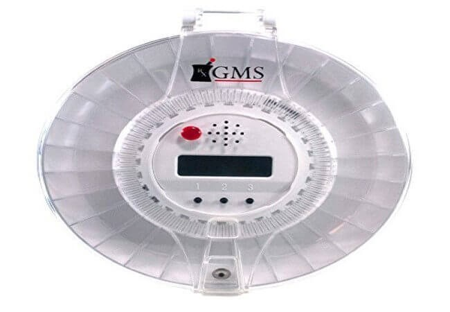 GMS 28 Day Automatic Pill Dispenser, 6 Alarms, 6 Dosage Rings, 1 Key with Clear and White Lid by Med-E-Alert