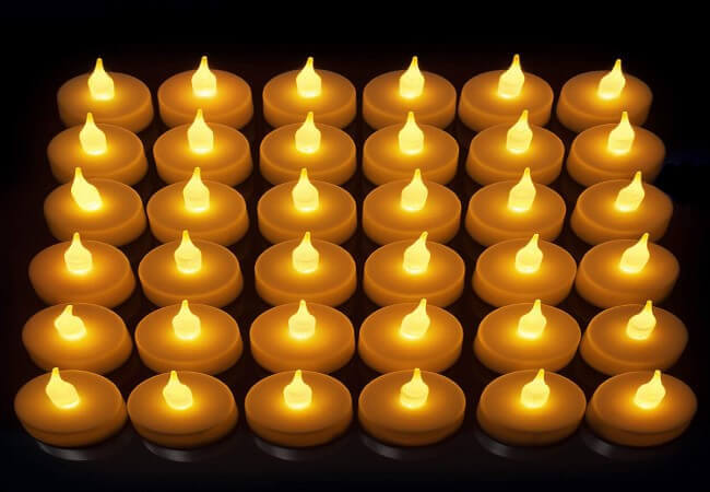 LED Candles, Lasts 2X Longer, Realistic Tea Light Candles, Flameless Candles to Create a Warm Ambiance, Naturally Flickering Bright
