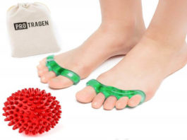 Toe Separators Yoga Massage Ball for Bunions, Pedicure, Hammertoe Foot Pain Relief by ProTragen