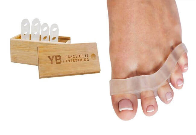 YOGABODY Naturals Toe Spreaders & Separators, Fast Pain Relief from Hammertoe & Bunions, Two Pairs in Stylish Wooden Box