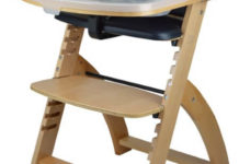 Abiie Beyond Wooden High Chair with Tray. The Perfect Adjustable Baby Highchair Solution for Your Babies and Toddlers or as a Dining Chair.