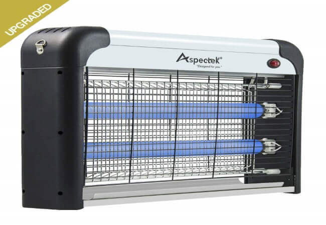 Aspectek Bug Zapper & Electric Indoor Insect Killer Mosquito, Bug, Fly & Other Pests Killer - Powerful 2800V Grid 20W Bulbs - Indoor Use Only