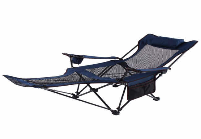 Camp Solutions Light Weight Backpacking Reclining-Lounging Camping Folding Chair with Headrest and Footrest for Outdoor Camping, RV, BBQ