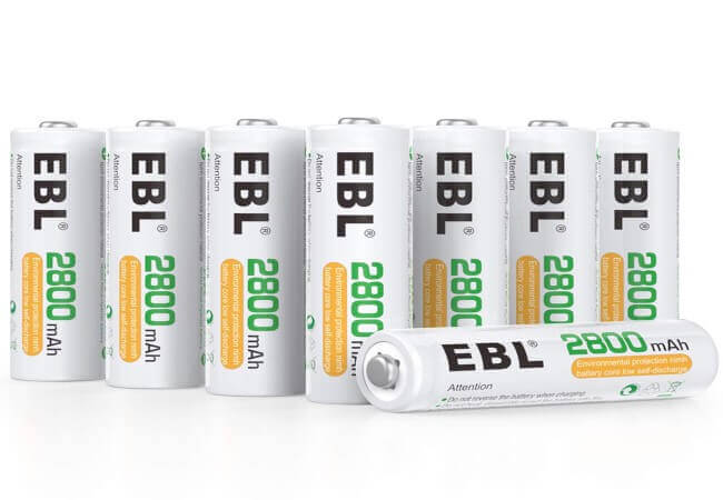 EBL AA Rechargeable Batteries 2800mAh Ready2Charge Quality AA Batteries