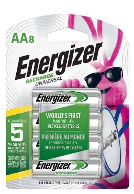Energizer Rechargeable AA Batteries, NiMH, 2000 mAh, Pre-Charged