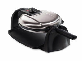 Hamilton Beach Flip Belgian Waffle Maker with Non-Stick Removable Plates, Browning Control, Drip Tray, Stainless Steel (26030)