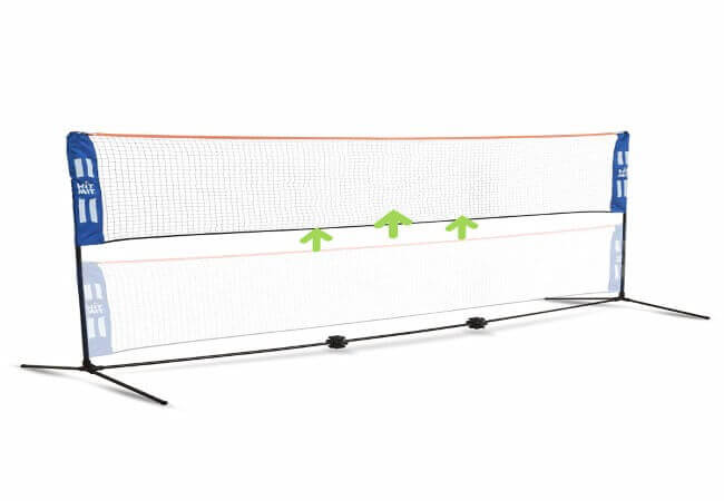 Hit Mit Adjustable Height Portable Badminton Net Set - Competition Multi Sport Indoor or Outdoor Net for Playing Pickleball, Kids Volleyball, Soccer