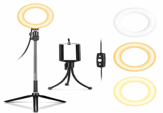 LED Ring Light 6 IDESION LED Selfie Ring Light with Tripod Stand and Phone Holder for Smartphone