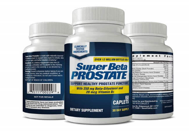 New Vitality Super Beta Prostate Supplement Supports Bladder & Urinary Health - 60 Caplets - Pack of 1