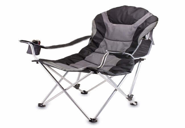 ONIVA - a Picnic Time Brand Portable Reclining Camp Chair, Black Gray