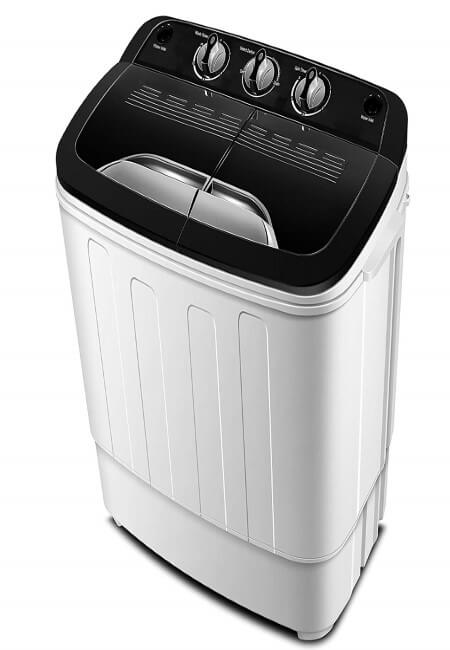 Portable Washing Machine TG23 - Twin Tub Washer Machine with Wash and Spin Cycle Compartments by ThinkGizmos