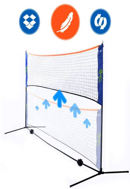 Street Tennis Club Portable Badminton Net Stand - Light and Fast Set Up - Perfect for Kids Volleyball, Tennis, Pickleball, Soccer Tennis