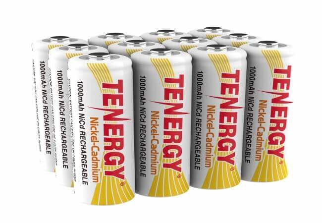 Tenergy AA Rechargeable Battery NiCd 1000mAh 1.2V Battery Pack for Solar Lights