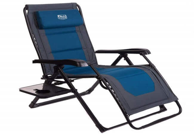 Timber Ridge Zero Gravity Locking Lounge Chair Oversize XL Adjustable Recliner with Headrest for Outdoor Beach