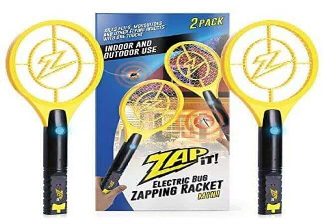 ZAP IT! Bug Zapper Twin Pack - Rechargeable Mosquito, Fly Killer and Bug Zapper Racket - 4,000 Volt - USB Charging, Super-Bright LED Light to Zap