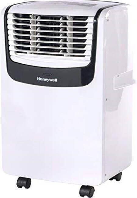 Honeywell MO08CESWK Compact Portable Air Conditioner with Dehumidifier and Fan for Rooms Up To 350 Sq. Ft. With Remote Control