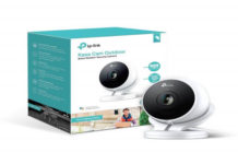 Kasa Cam Outdoor by TP-Link - 1080p HD, Built-in Siren, Stream Anywhere, Works with Alexa Echo and Google Assistant (KC200) - White, Black