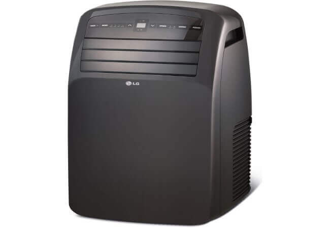 LG LP1215GXR 115V Portable Air Conditioner with LCD Remote Control, Black for Rooms up to 300-Sq. Ft.
