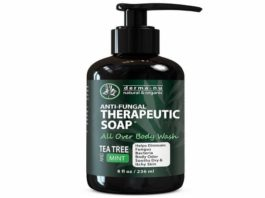 Antifungal Antibacterial Soap & Body Wash - Natural Fungal Treatment with Tea Tree Oil for Jock Itch, Athletes Foot, Body Odor, Nail Fungus, Ringworm, Eczema & Back Acne - For Men and Wome
