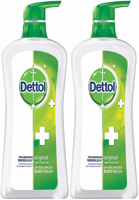 Dettol Anti Bacterial pH-Balanced Body Wash, Original, 21.1 Oz 625 Ml (Pack of 2)
