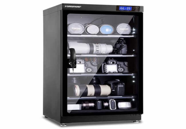 FORSPARK Camera Dehumidifying Dry Cabinet 8W 100L - Noiseless and Energy Saving - for Camera Lens and Electronic Equipment Storage