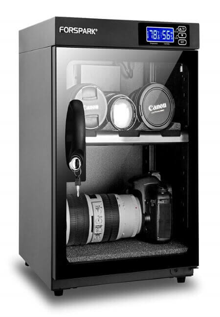 FORSPARK Camera Dehumidifying Dry Cabinet 8W 30L-Noiseless & Energy Saving - for Camera Lens & Electronic Equipment Storage