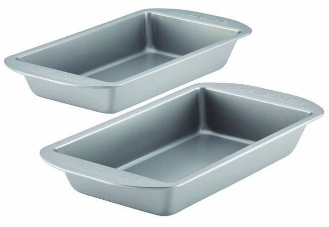 Farberware Nonstick Bakeware Bread and Meat Loaf Pan Set, 2-Piece, Gray - 46405