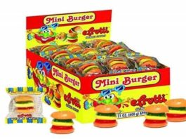 Gummi Mini Burger (Gummi Mini Cheeseburger) Wrapped 60ct