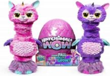 Hatchimals Wow Llalacorn 32 Tall Interactive with Re-Hatchable Egg (Styles May Vary)