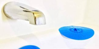 LORD OF LEISURE Bathtub Overflow Drain Cover and Tub Drain Stopper - Add an Extra 5 of Water to Your Bath - Made of Silicone Not PVC