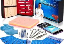 Suture Kit Practice Pad Kit with Tools and Accessories- Educational and Demonstration Purpose only