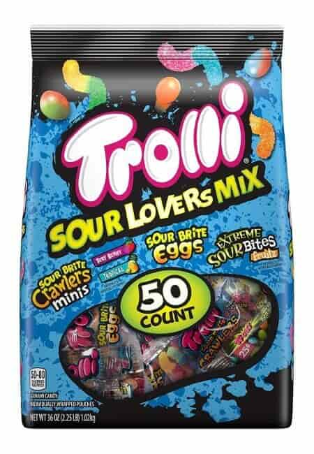 Trolli Sour Lovers Mix Assorted Gummy Candy Variety, Individually Wrapped, 2.25 Pound Bag