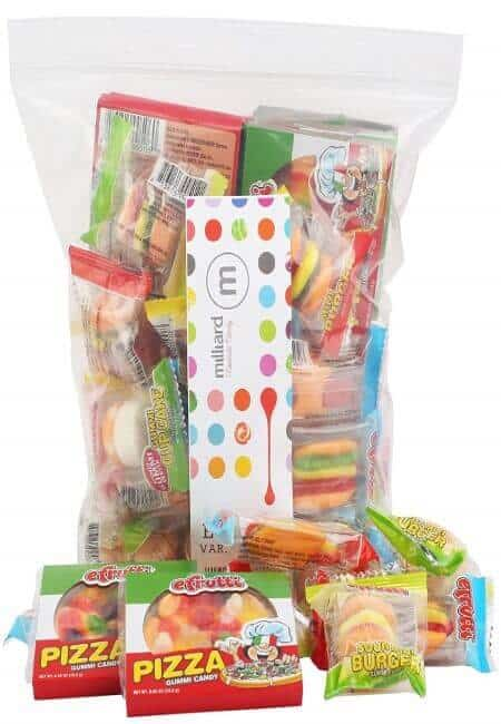 eFrutti Gummi Candy Variety Party Pack Pizzas, Mini Burgers, Sour Mini Burgers, Hot Dogs, Cup Cake, Sea Creature
